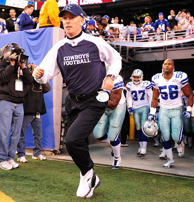 Garrett took over one of the more disappointing teams of the 2010 season and turned it into a second-half winner. The Dallas Cowboys were 1-7 before Garrett was named interim head coach, but promptly went 5-3 for the remainder of the season to land him a four-year contract as the new head coach.