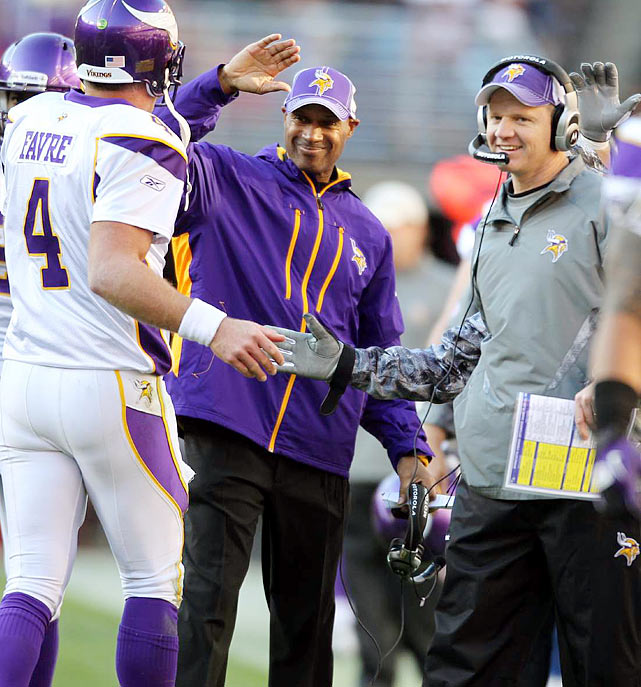 After the firing of Brad Childress, Leslie Frazier inherited a 3-7 Minnesota team and got the Vikings to play competitive again. They won their first two games under Frazier and finished 3-3 with him as the interim head coach, including a surprising 24-14 win over the Philadelphia Eagles in Week 16. Because of his efforts in the second-half, Frazier was named head coach of Minnesota at the end of the season.