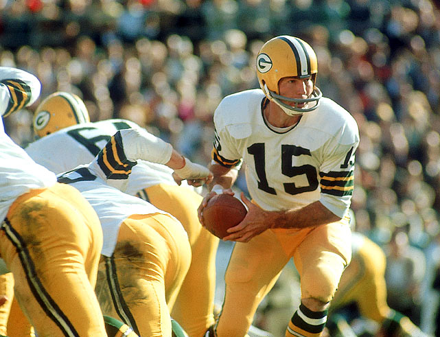 Bart Starr was the 1966 NFL MVP. That year he threw for 14 touchdowns and only three interceptions on his way to the fourth of his five championship wins.