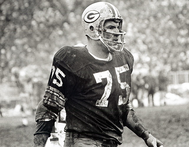 Offensive lineman Forrest Gregg had a Hall-of-Fame career with the Packers and also coached the team from 1984 to 1987.