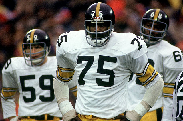 Jack Ham (59), Joe Greene (75), and L.C. Greenwood (68) were an intimidating crew for years.