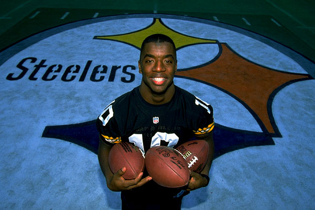 One of the more versatile players in NFL history, Steelers quarterback Kordell Stewart began his career in Pittsburgh as a running back and receiver from 1995 to '96. In his first season as a full-time starter in 1997, Stewart led the Steelers to the AFC Championship Game. In his eight-year career in Pittsburgh, Stewart threw for 46 touchdowns, ran for 35, and caught four passes for scores.