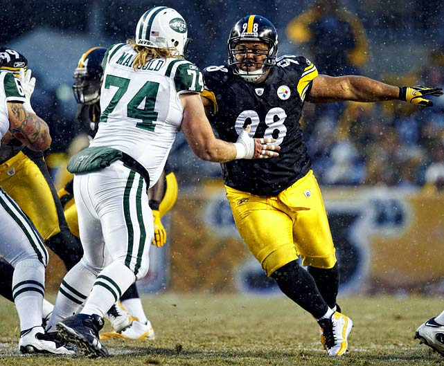 "They call Hampton ""Big Snack"" for a reason. He's huge. And he eats up the middle of the field, rendering opposing rushing attacks useless. Establishing a beach front, if you will, at the center of the Steelers' defense is the biggest key to what happens Sunday. Mangold is arguably the best center in the game and has been the glue that's made the Jets' ground game so successful, averaging nearly 160 yards over the final three games of the regular season and first two playoff games. The Steelers have the best rush defense in the league and one of the best in NFL history."