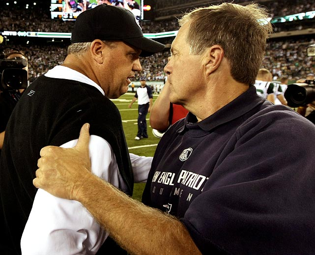 "Yup, Roar vs. Bore is taken directly from the clever headline-writing of the  New York Post . But as much as coaches do not take the field, the less-is-more philosophy of Patriots coach Bill Belichick has served him quite well. The same is true for the brash ways of Jets coach Rex Ryan. This HAS become about the coaches. Rest assured,  Belichick and Ryan are using the ""it's personal"" strategy Ryan employed to the fullest extent. In entirely different ways, Ryan and Belichick use their styles and approaches to get the most from their players. Keep an eye open for this, too: If either coach gets a chance to rub it in, he will."