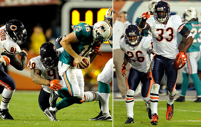 In Week 11 the Chicago Bears became the first NFL franchise to win 700 regular-season games.  And they did so in spectacular fashion: a 16-0 shutout of the Miami Dolphins.