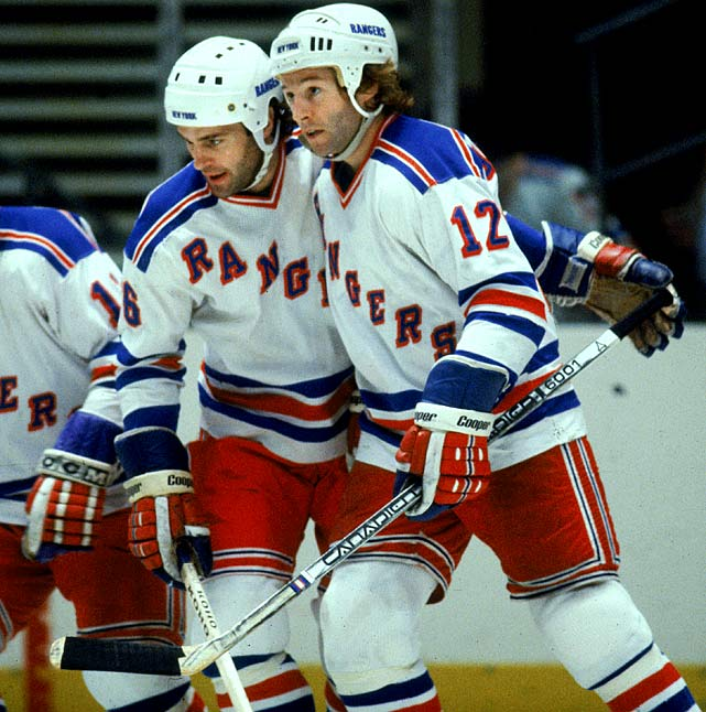 Broadway's greatest brother act was likely Bill and Bun Cook (1926-36), but the Maloneys weren't too shabby. Older brother Dave, a defenseman, was the Rangers' first round pick in 1974 and he became their power play quarterback as well as captain of their 1979 Stanley Cup Finals team. Don, a forward and second-round pick in '78, joined him in time for the run to the final and skated on the Mafia Line (it had two Dons) with Don Murdoch and Phil Esposito, later becoming captain as well as the MVP of the 1984 All-Star Game.