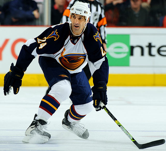 The durable defenseman was 47 when he accepted a contract with the Chicago Wolves of the AHL in 2009 in hope of later extending his career in the NHL, where he'd spent 25 seasons and won three Norris trophies. In March 2010, he got his wish when the Atlanta Thrashers summoned him. He played in seven games for them without recording a point, and then retired.