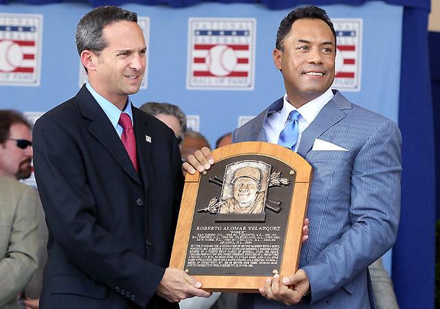 Alomar became the first Toronto Blue Jay, the third Puerto Rican and the 20th second baseman to be inducted into the Hall of Fame. Over his career, the switch-hitting Alomar won 10 Gold Gloves and was a 12-time All-Star. Alomar hit .300 over his career and won two World Series titles with the Jays.