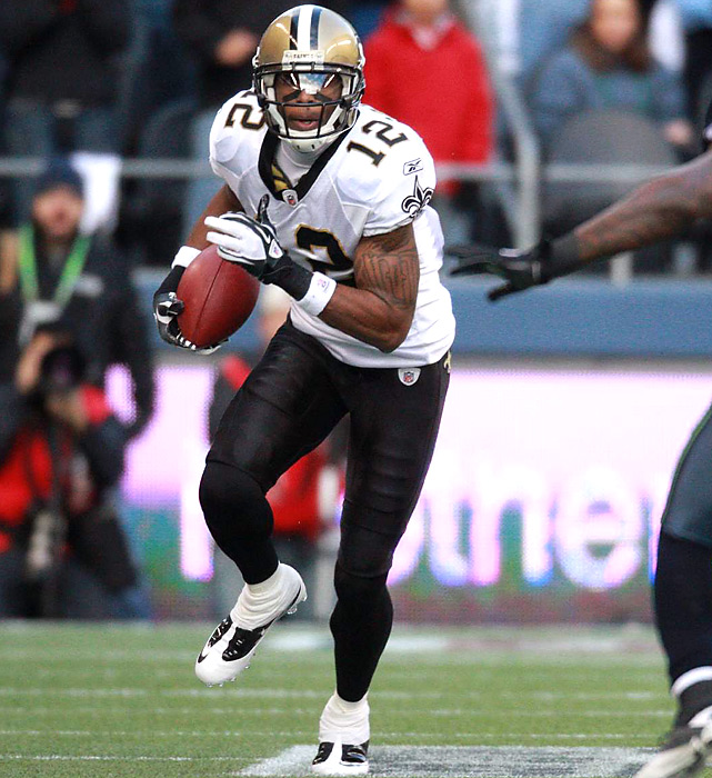 Marques Colston, the Saints' go-to guy all season, was one of nine receivers to catch at least one ball against Seattle. But on this day, Colston finished with a pedestrian four catches for 66 yards.