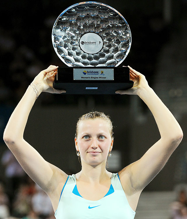 def. Andrea Petkovic, 6-1, 6-3 WTA International, Hard (Outdoor), $220,000 Brisbane, Australia