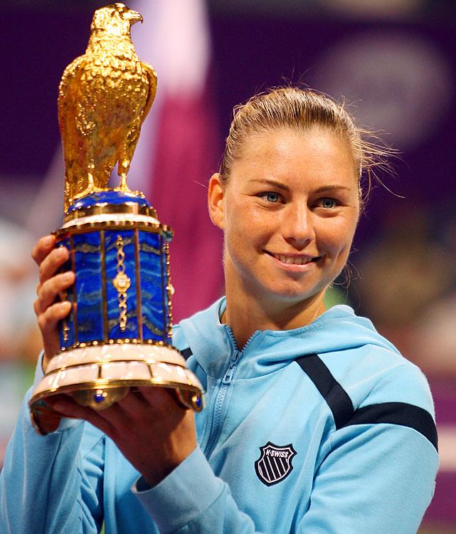 def. Caroline Wozniacki, 6-4, 6-4 WTA Premier, Hard (Outdoor), $721,000 Doha, Qatar