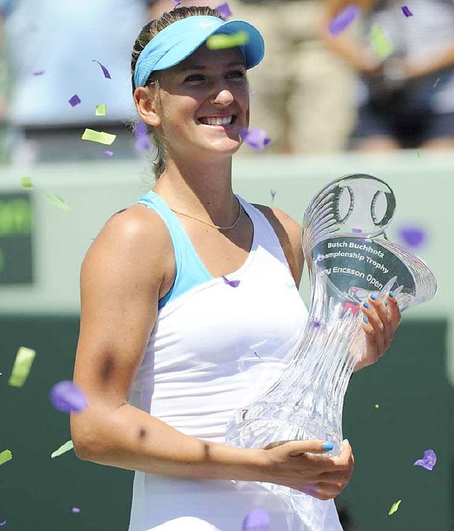 def. Maria Sharapova, 6-1, 6-4 WTA Premier, Hard (Outdoor), $4,500,000 Miami, Fla.