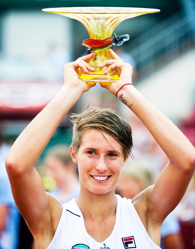def. Johanna Larsson, 6-4 7-5  WTA International, Clay, $220,000 Bastad, Sweden
