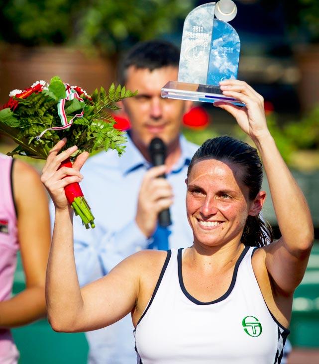 def. Irina Begu, 6-4, 1-6, 6-4 WTA International, Clay, $220,000 Budapest, Hungary