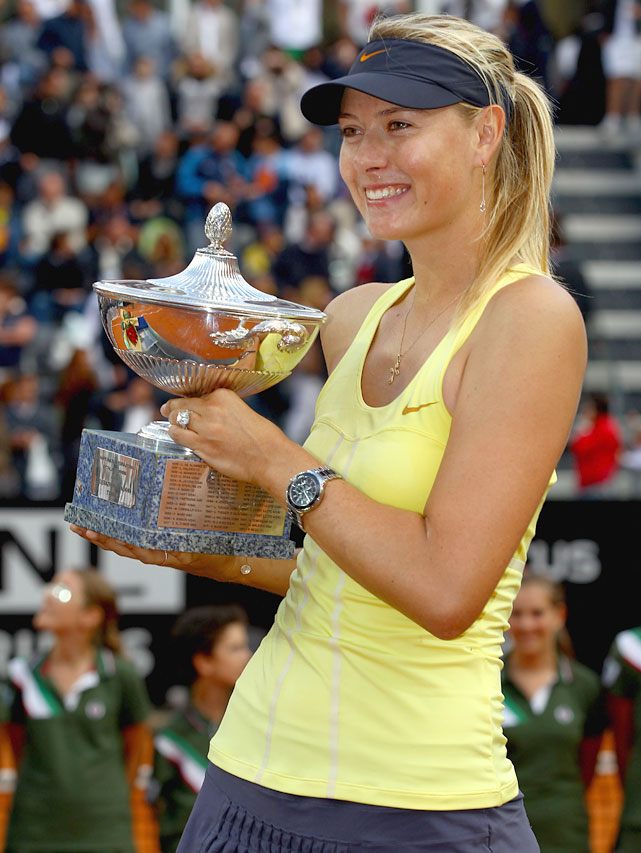 def. Sam Stosur, 6-2, 6-4 WTA Premier, Clay (Outdoor), $2,050,000 Rome, Italy