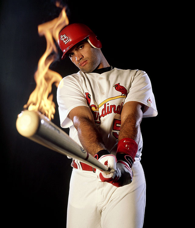 Pujols averaged 40 home runs and 126 RBIs through his first four seasons and was runnerup for the MVP award twice.