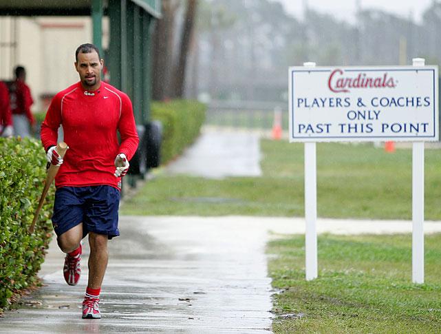 Pujols at the Cardinals training facility in Jupiter, Fla