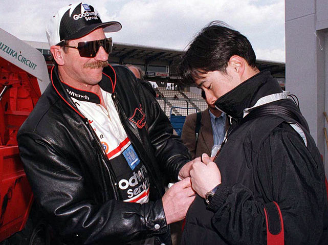 NASCAR's mid to late-90s growth period was filled with experimentation, causing the circuit to tinker with exhibition races over in Japan. Earnhardt never won -- he ran second to Rusty Wallace in 1996 -- but was a huge hit with the fan base, whose interest in the NASCAR icon showed how his love/hate personality had transcended boundaries most wouldn't have dared the sport to even dream for a driver 20, even 10 years earlier.