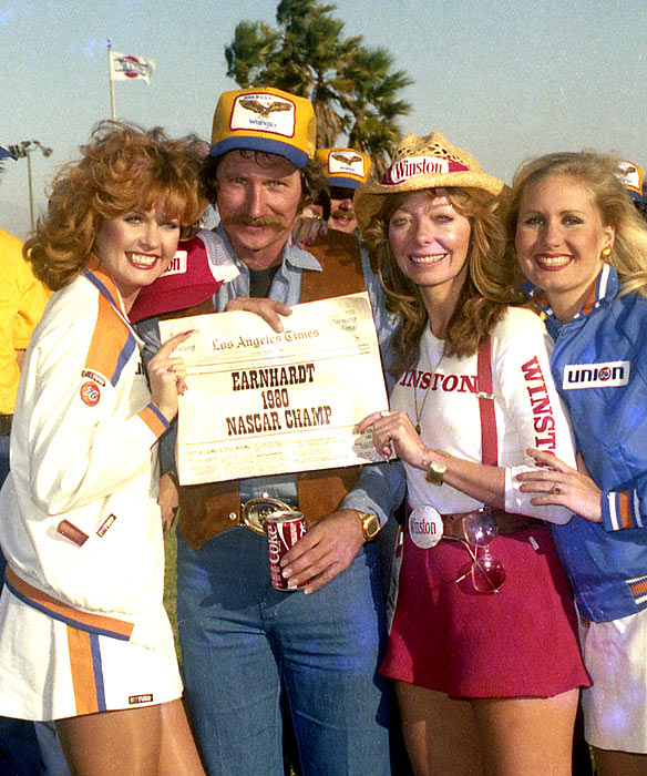 After a strong first season the Osterlund team, many expected it to keep improving in 1980. But no one expected, after just 36 starts at the Cup level, Earnhardt could seriously contend for a title, let alone fend off a man who'd won three of the last four series championships: Cale Yarborough.It was one of the most shocking seasons in Sprint Cup history, this full-time sophomore leading the standings for 30 of 31 races while winning five times, including back-to-back victories at Martinsville and Charlotte that fall to seal the deal on the Winston Cup trophy. Once the smoke cleared in the Ontario season finale, the final margin stood at 19 over Yarborough and Earnhardt had established himself as a bona fide Cup star on the circuit for years to come.