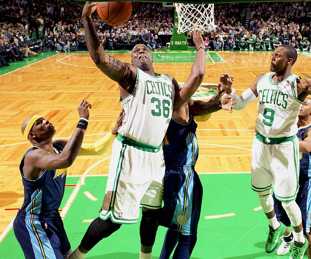 Keeping Shaq healthy remains problematic, but consider what the big fella has provided for the veteran minimum: 9.3 points (on 66.2 percent shooting) and 4.9 rebounds in 20.7 minutes. The Celtics might need that kind of production -- along with some inspired defense -- from Shaq in the playoffs after dealing center Kendrick Perkins at the trade deadline.