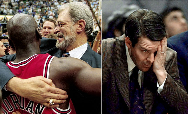 Based on winning percentage, the Bulls of the lockout-shortened '99 season produced the NBA's greatest single-season decline. And the free fall was hardly surprising, given that Michael Jordan (retired), Scottie Pippen (traded) and Phil Jackson (took the year off from coaching) departed after the Bulls completed their second three-peat in '98. What followed was a six-year record of 119-341 (.259), much of it with Tim Floyd as coach.
