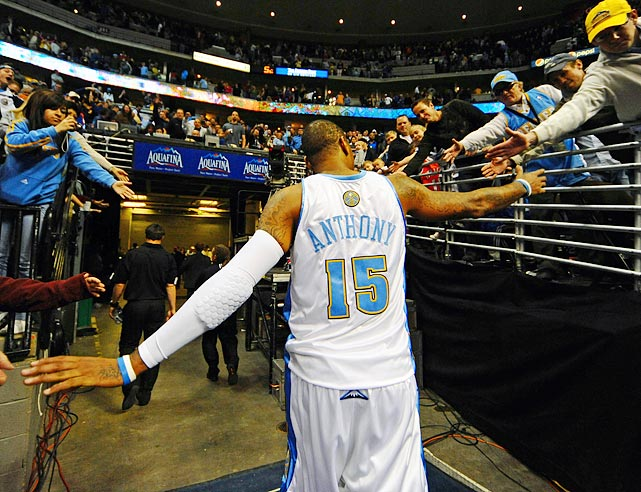 "Two days later, Carmelo, not surprisingly, backtracked, saying that wanting to have options ""doesn't mean anything else.""  Carmelo said he appreciates that Nuggets fans are emotionally invested and want him to seem that way as well, and that those fans can still count on him to play hard and try to win games for the Nuggets as long as he's with the club."