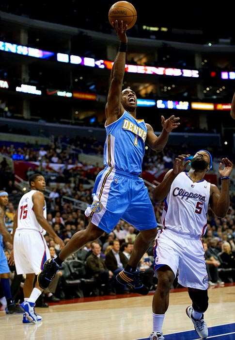 The Knicks and Nuggets swapped starting point guards in the Anthony trade, with Billups coming to New York after two and a half seasons in Denver. Billups may have lost a step at 34 -- and he'll do nothing to improve the Knicks' shaky defense -- but he had been shooting a career-high 44.1 percent from three-point range at the time of the trade.