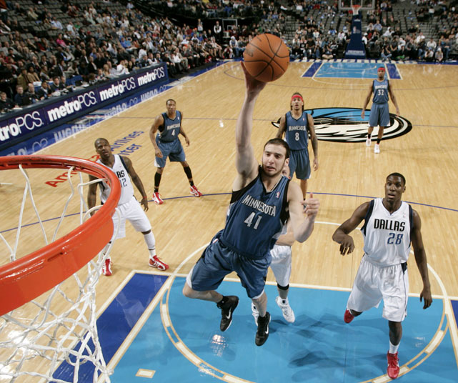 Koufos has never been a consistent part of an NBA rotation in the three years since Utah selected him with the 23rd pick in the 2008 draft. The former Ohio State standout was averaging 8.6 minutes a game with the Timberwolves.