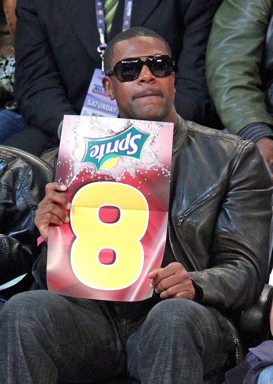 Funnyman Tucker wanted to be a judge during the dunk contest. So what if his sign was upside down.