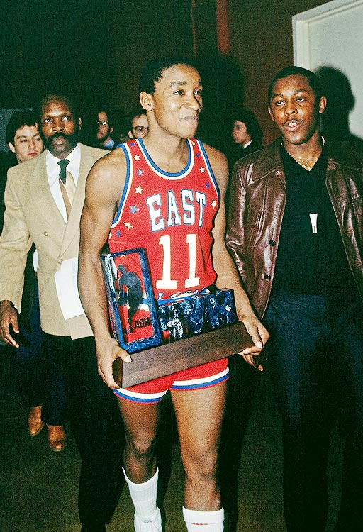 Isiah Thomas somehow overshadowed Magic Johnson (who notched a NBA All-Star record 22 assists) as the East rallied to beat the West 154-145 in Denver.  Thomas handed out 15 assists and scored all 21 of his points in the second half.