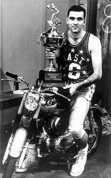 Jerry Lucas held off stiff competition to win MVP honors as the East topped the West 124-123 in St. Louis, MO.  Lucas scored 25 points and pulled down 10 rebounds, to win the award over Oscar Robertson (28 points, eight assists and six rebounds) and Wilt Chamberlain (20 points and 16 rebounds).