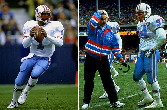 The Oilers traded perennial Pro Bowl quarterback Warren Moon after the 1993 season, leading to a 10-win decline and first-to-worst finish the following year. The upside was that, in the middle of the wretched season, Houston fired coach Jack Pardee and replaced him with Jeff Fisher, whose 16-plus-year run -- which ended after the 2010 season -- made him the NFL's longest-tenured coach.   In terms of winning percentage, the Oilers suffered the greatest decline in the four major pro sports (.750 to .125 for a difference of .625). Read on for the rest of the NFL's biggest single-season drop-offs (excluding strike-related seasons).