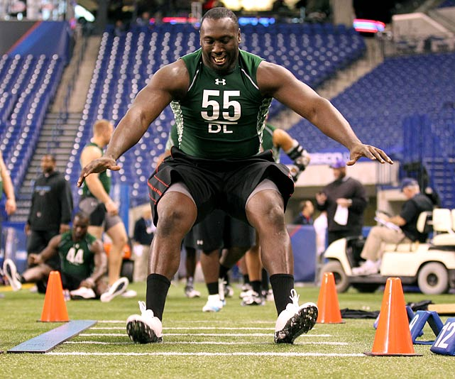 Wilkerson is one of the most underrated defensive line prospects in April's draft. He's a great combination of size, athleticism and brute force.