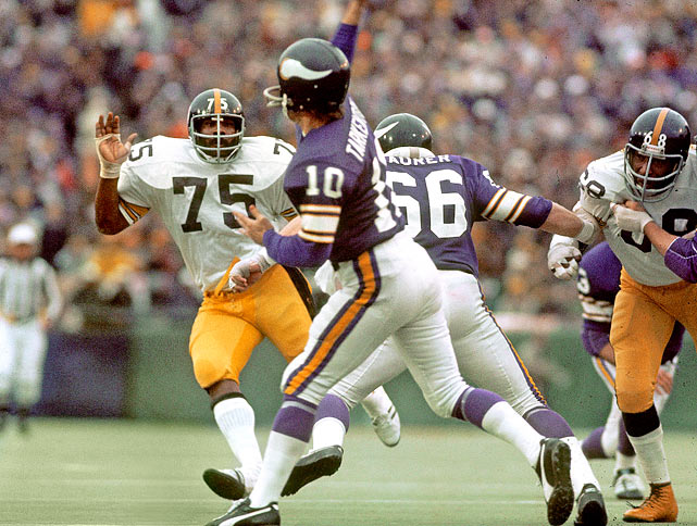 In a matchup of the NFL's two best defenses -- the Vikings' Purple People Eaters vs. the Steelers' Steel Curtain -- Pittsburgh reigned supreme.  They limited the Minnesota offense to 119 total yards and recorded the first Super Bowl safety en route to a 16-6 victory over the Vikings.