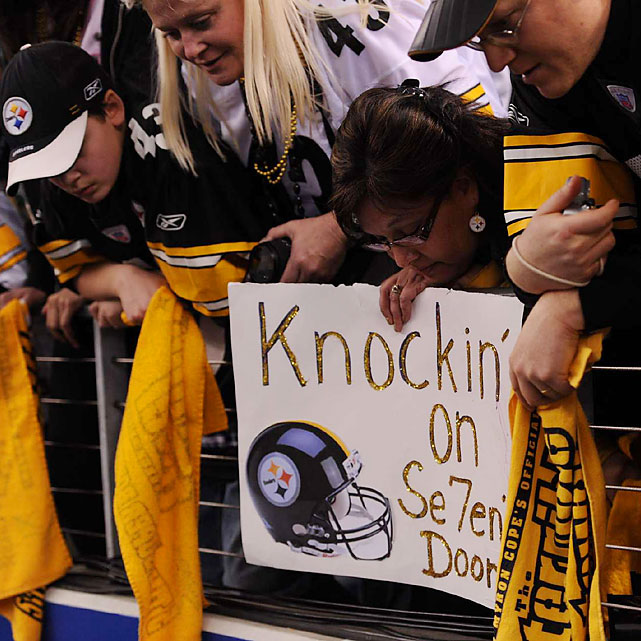 Steelers fans knew a historic seventh Super Bowl title was at stake. No other team has won more than five.
