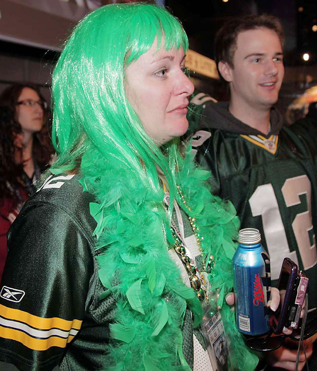 It's not Packer green, but Lady Gaga would approve.