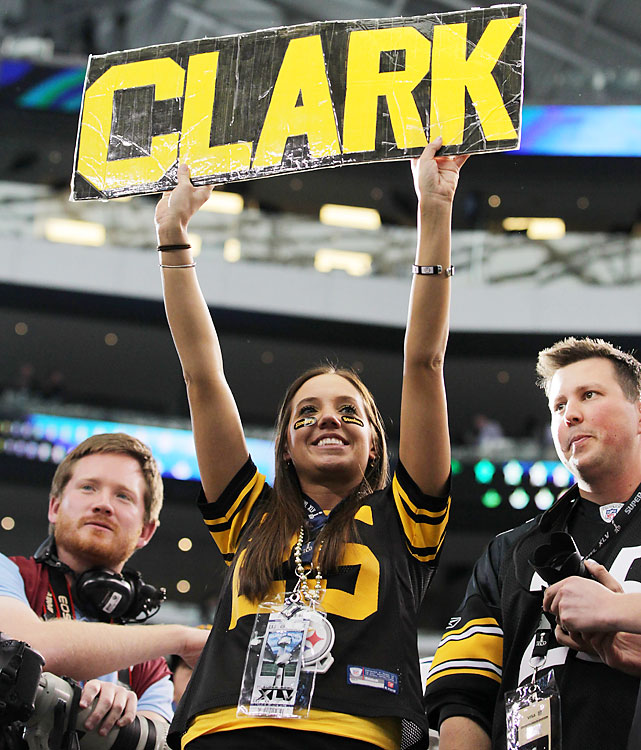 Ryan Clark's fan club made the trip.