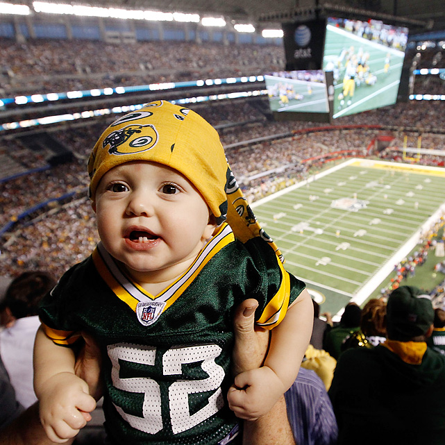 Forty-five years from now, this baby will be part of a Visa Super Bowl commercial.