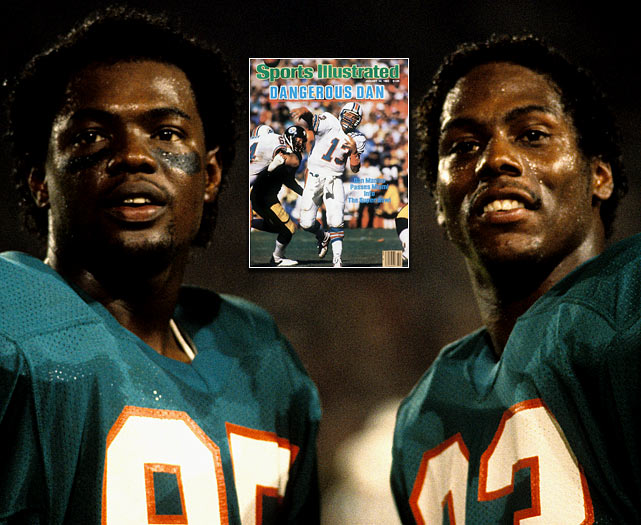 The 1982 Dolphins reached Super Bowl XVII on the strength of a dominating  defense, affectionately dubbed The Killer B's. But when Miami reached the Big  Game two years later, it had seamlessly morphed into an offensive machine,  coinciding with the emergence of Mark Duper, Mark Clayton and QB Dan Marino, who  would break new ground with 48 TD passes in 1984 (an NFL record that stood for  20 years). With Marino (the fifth and final QB taken in Round 1 of the heralded  '83 draft) leading the charge, the '84 Fins were virtually unstoppable, notching  10 blowout victories and a sizable point differential (13.4).
