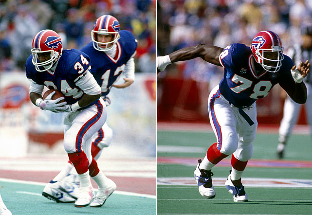 The 1990 Bills ruled the AFC through fear ... and a devastating, quick-strike  offense (27 points per game) that had no peer. Behind Hall of Famers Jim Kelly,  Thurman Thomas and Bruce Smith (sorry, Andre Reed), the '90 Bills enjoyed a  problem-free run to the East title and AFC championship, thumping the Dolphins  and Raiders in the playoffs before suffering a gut-wrenching loss to the Giants  in Super Bowl XXV. But that franchise-defining defeat -- capped by kicker Scott  Norwood's wide-right miss at the gun -- doesn't obscure double-digit excellence  in point differential and turnover margin, the nine blowout victories or a 4-2  mark against playoff teams (including the Giants in December). Unfortunately for the Bills,  New York got its revenge in January.
