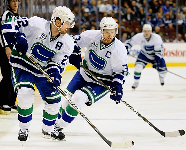 The Vancouver Canucks teammates are Swedish twins who got their wish to play together in the NHL. In 1999, they were regarded as two of the top prospects in the league and requested to play together, which led the Canucks to make a series of trades to grab them with the second and third overall picks. The Sedin twins, now 30, were on the Sweden Olympic team that won gold at the Turin Olympics in 2006.