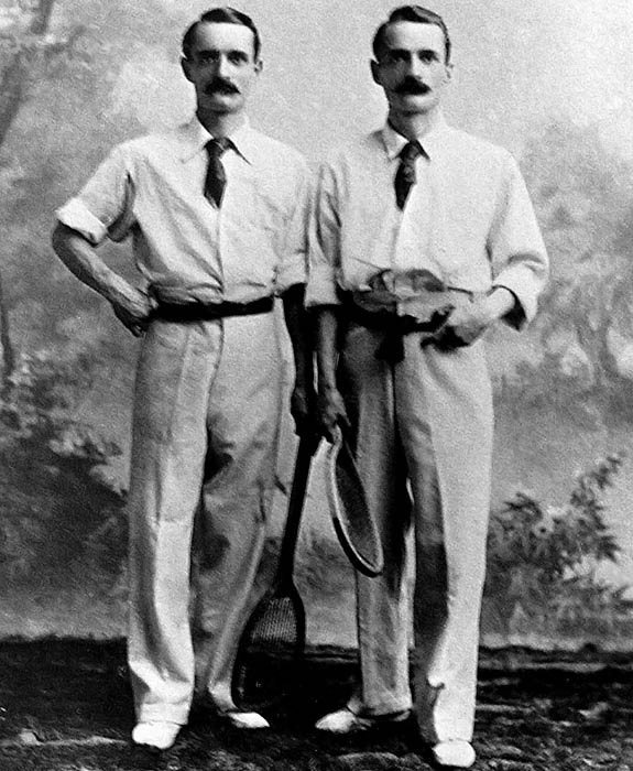 While you may not have heard of the Baddeley twins, they made their mark in tennis in the late 1890's. Herbert and Wilfred were doubles partners who won the Wimbledon doubles championship four times (1891, 1894-1896) before opting to pursue law in 1897.