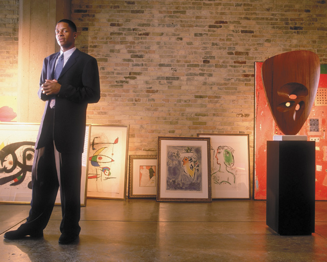 Allen visits the Michael Lord Gallery in Milwaukee during an SI photo shoot.