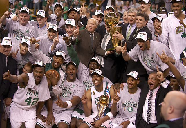After waiting 13 seasons, Allen won his first championship in his first season with the Celtics. In the '08 playoffs, Allen averaged 15.6 points per game and shot 39.6% from behind the arc.