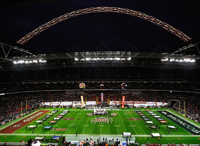 At the home of England's national soccer team, Wembley Stadium, the 49ers defeated the Broncos 24-16 in the NFL's fourth regular-season game in London. Technically the home team, the 49ers distributed team flags to the 83,941 in attendance, who cheered for Troy Smith as he led the Niners to a fourth-quarter rally.