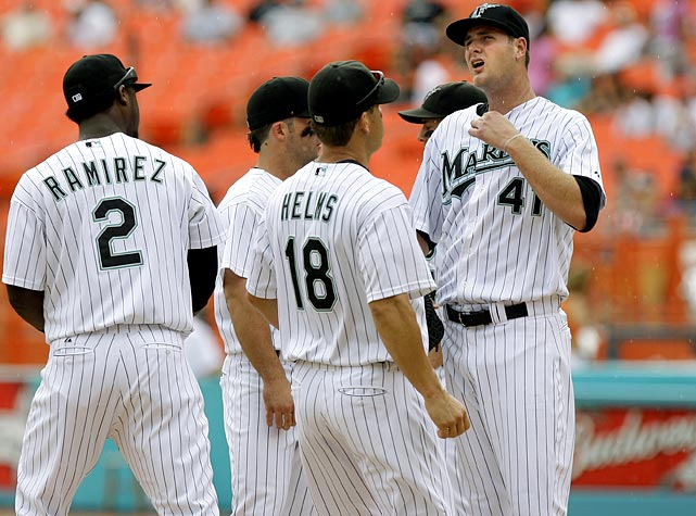 Only 24, Chris Volstad started 30 games for the Florida Marlins last season. The 6-8 pitcher was the 16th overall pick in the 2005 draft and eyes a rotation spot the young Marlins staff.