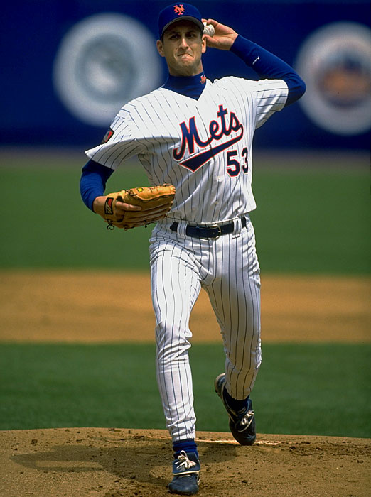 Eric Hillman spent three seasons (1992-1994) with the New York Mets and posted a career 4-14 record with a 4.85 ERA.