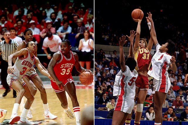 The men upset a Michael Jordan-led North Carolina squad in the Elite Eight, but fell in the national semifinals to eventual champion North Carolina State. The women's team, led by freshman and future five-time Olympian Teresa Edwards, beat conference rival Tennessee in the regional final, but fell to USC in a national semifinal.