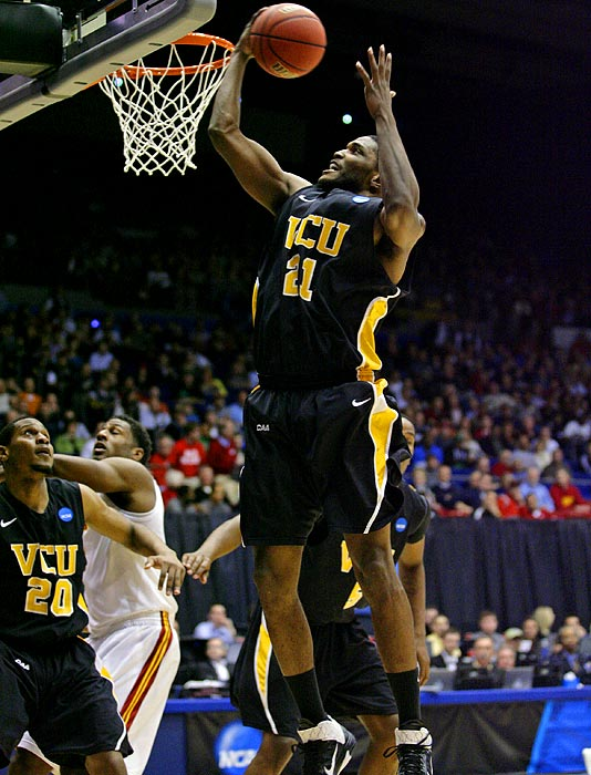 "A recap of each of the four teams' tournament win on the road to Houston, starting with surprise entry VCU. Jamie Skeen scored 16 points and the Rams more than held their own inside against bigger and stronger Southern California in a 59-46 ""First Four"" victory."