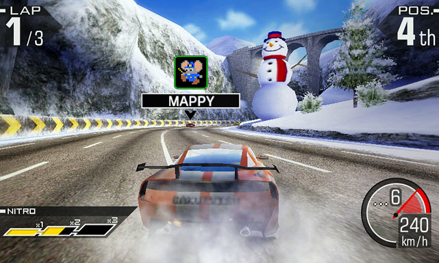 "This longtime racing franchise could prove to be the biggest hit among the launch titles for the 3DS. Even if you are used to Ridge Racer titles, you may never have played one that lets you drive this fast. The myriad of cars and tracks are available, as always, but this time in perfectly rendered 3D. The familiar drift mechanic is back, though now you have an option to play with a ""Drift Button"" that makes it easier to negotiate corners. Multiplayer is available for up to four players, and with StreetPass you can compile Ghost Race data from other gamers and challenge their times.  Score: 9 out of 10"